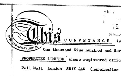 Old Property Deeds